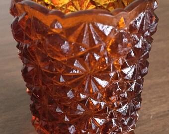 Vintage Brown Glass Tealight