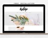 Responsive Premade Blogger template + Homepage & Contact form - Minimalist Hand lettering - Indigo