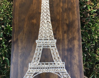 MADE TO ORDER - Paris Eiffel Tower String Art Wooden Board
