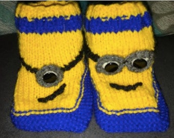Minion toddler bootees