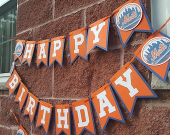 Mets Banner -Mets Birthday Party -Mets Decortations -METS Party -METS Party Decor -METS Birthday Banner