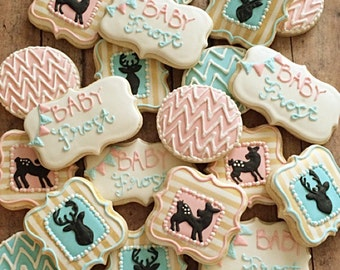 Gender reveal/its a boy/it's a girl/ buck or doe/ baby shower cookies/ baby gift/1 dozen