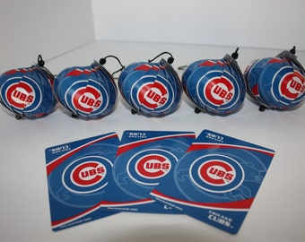 Chicago Cubs Ornaments : Single or Set of 5