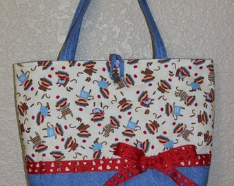 Sock Monkey Diaper Bag
