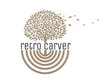 Premade logo, Custom logo design, tree nature vintage logo, logo design,wood carver business logo design, wood tree logo, nature logo design
