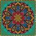 MANDALA CUSHION COVER C4-Cross stitch pattern pdf chart | Cross Stitch Pattern | digital Download | Cross Stitch Pdf from Crossstitchfurnish