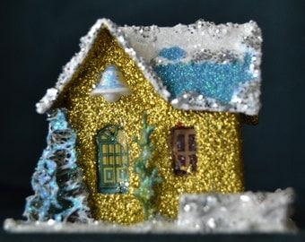 Vintage Putz Christmas House