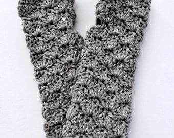 Grey Gloves, Grey Wristwarmers, Grey Fingerless Gloves, Grey Mittens, Silver Fingerless Gloves, Wristwarmers, Arm Warmers THE LAUREL