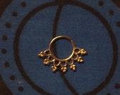 Seven Star Gold  16G Septum Ring