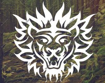 Lion Decal - Lion Wall Art - Lion Sticker - Lion Laptop Decal - Lion Art - Lion Vinyl Decal - Lion Vinyl Sticker - Lion Car Decal