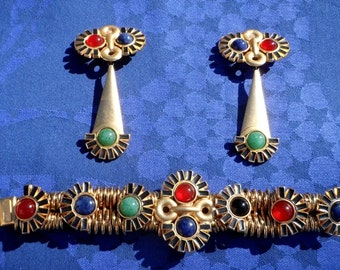 REDUCED - Jewelry designer DANNAH bracelet and matching earrings - STUNNING from the 80s