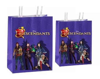 Disney Descendants Party Favor Bags ~ Descendants Birthday Party Inspired Decorations & Decor
