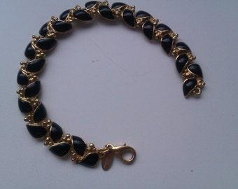 18 CARAT  Gold Plated Fontaine enamel bracelet