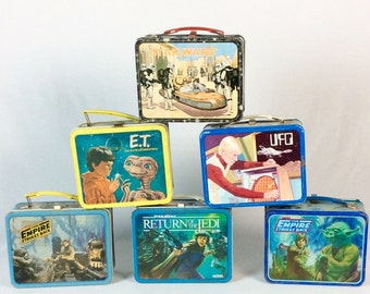 Star Wars-Empire Strikes Back-Return of theJedi- ET & UFO Lunch Boxes