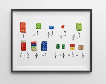 Math wall art.Lego math art print (8x10).Kids room wall art.Education wall art.Math art.Math art poster.Math print.For kids.Classroom poster