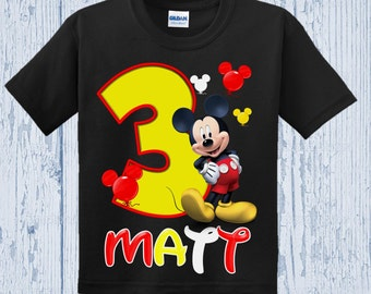 Mickey Mouse Birthday Shirt - Mickey Mouse Shirt - Other Colors Available