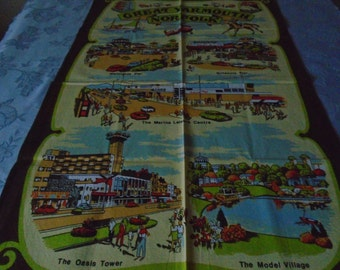 great Yarmouth  vintage tea towel