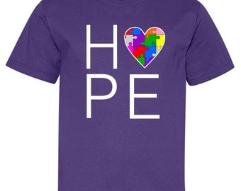Hope Love Autism Youth T-Shirt