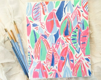 Out to Sea Lilly Pulitzer Inspired Canvas Painting