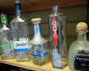 Custom Tequila Gifts - Select a bottle - Order custom Succulent Planter - Lamp- Snack Bowl - Nut Dish - Vase