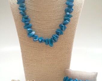 Blue stone set