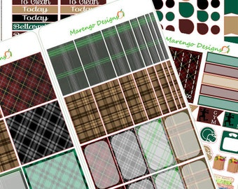 Plaid Planner Design