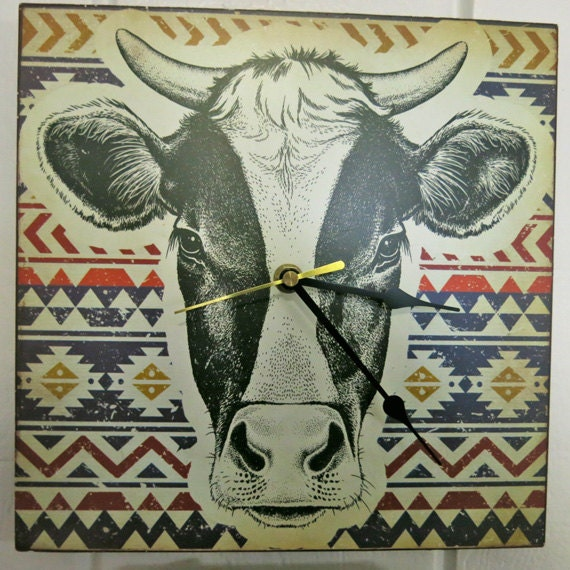 Items Similar To Cow Clock Cow Decor French Country Decor
