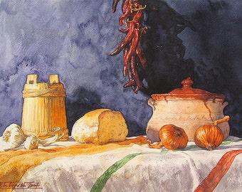 Balkan Table Still Life, Serbian Table Still Life (Print)
