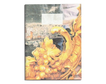 Art Journal with yellowish blank pages A5