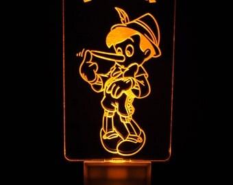 Disney Pinocchio Light Sensor LED Night Light, Personalized Custom LED Nightlight