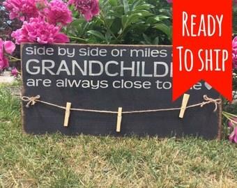 Grandchildren photo clip board