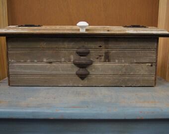 Reclaimed Beadboard Wood Mailbox