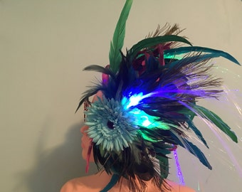 Feather light up Headress