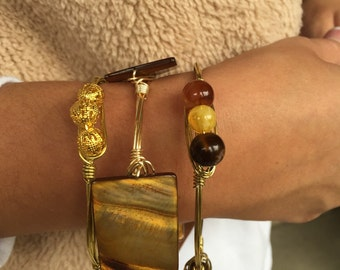Neutral Browns Bangle Stack