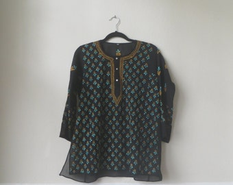 Vintage Embroidered Indian Shirt