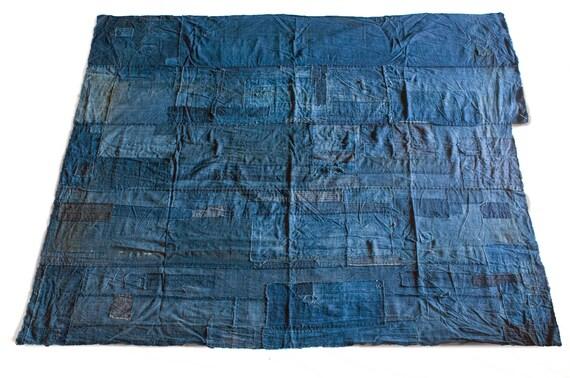 Housse de boro futon aizome japonais indigo coton patch for Housse de futon