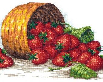 Cross Stitch Kit Strawberry basket