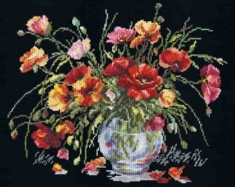 Cross Stitch Kit Red poppies GN