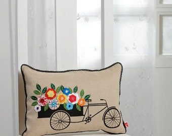 Basketful of crochet cushion cover