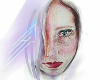 Holographic princess - Art Print