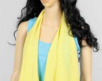 Pastel Yellow Scarf