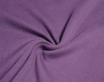 Heavy Ribbing Material, Rib Knit, Plum, Deep Purple, Cuff Fabric