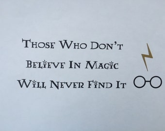 Harry Potter Quote Vinyl Decal (Black and Gold) with Snitch - Hogwarts, Birthday Party Decor, Bumper Sticker, Vinyl Decal, Computer Decor