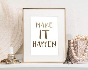 make it happen etsy. Black Bedroom Furniture Sets. Home Design Ideas