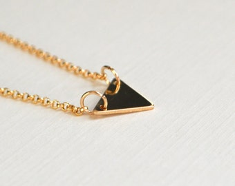 Gold Triangle Necklace - Limited Edition - Triangle Necklace - Dainty Jewelry