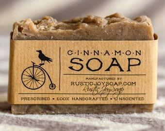 Cinnamon Soap - All Natural Soap, Handmade Soap, cinnamon soap, Homemade Soap, Fragrance Free Soap