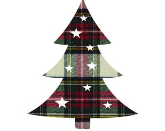 Starry Tree - Colored Plaid