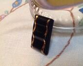Oblong Deco Black Glass B...
