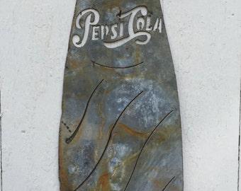 Vintage Style Pepsi Bottle Sign