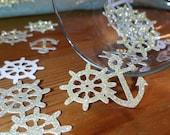 nautical wedding decorations, nautical confetti, anchor confetti, nautical table decorations, nautical party, die cut anchor,